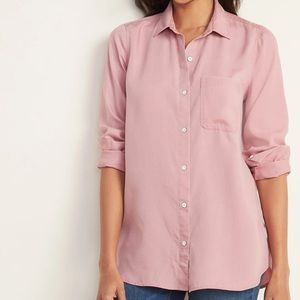 Old Navy Tencel Blouse Pink